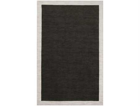 Surya Madison Square Rectangular Black Area Rug