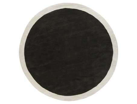 Surya Madison Square Round Black Area Rug