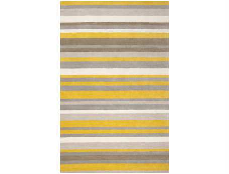 Surya Madison Square Rectangular Yellow Area Rug