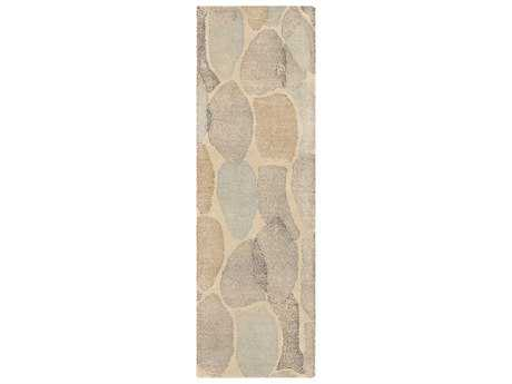 Surya Melody 2'6'' x 8' Rectangular Khaki, Medium Gray & Black Runner Rug