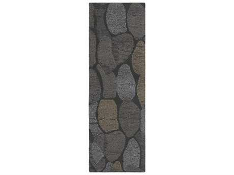 Surya Melody 2'6'' x 8' Rectangular Charcoal, Medium Gray & Camel Runner Rug