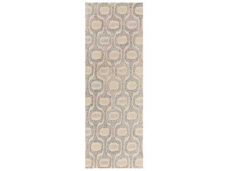 Surya Melody 2'6'' x 8' Rectangular Khaki, Charcoal & Bright Yellow Runner Rug