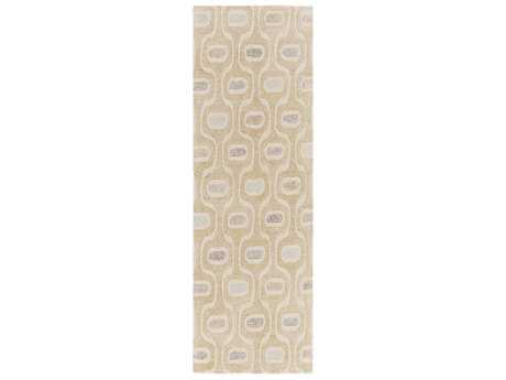 Surya Melody 2'6'' x 8' Rectangular Khaki, Olive & Denim Runner Rug