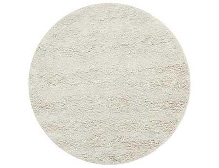 Surya Metropolitan 8' Round White Area Rug