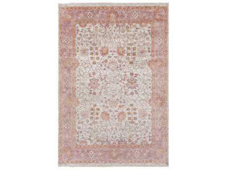 Surya Maeva Rectangular Peach, Bright Pink & Ivory Area Rug