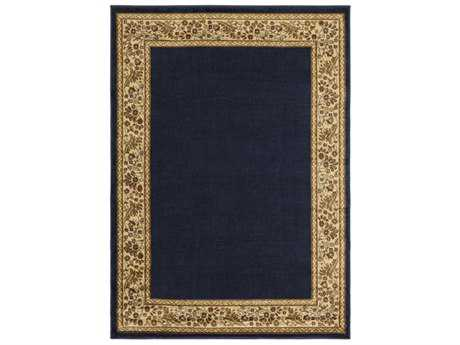 Surya Midtown Rectangular Navy, Khaki & Burnt Orange Area Rug