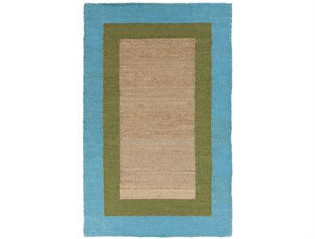 Surya Mimosa Rectangular Green Area Rug