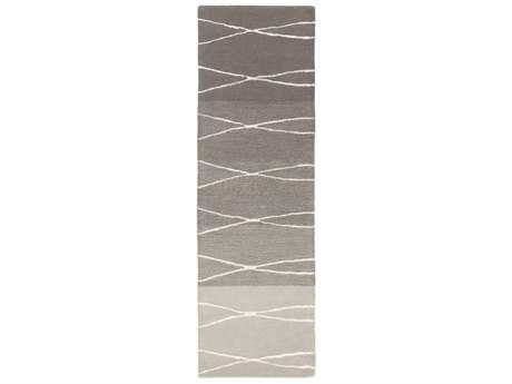Surya Manor 2'6'' x 8' Rectangular Medium Gray, Khaki & Light Gray Runner Rug