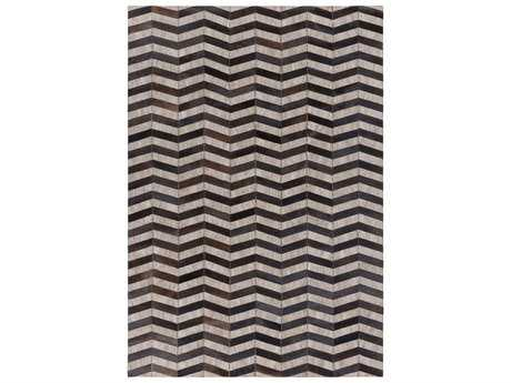 Surya Medora Rectangular Black, Dark Brown & Taupe Area Rug