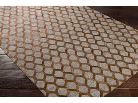 Surya Medora Rectangular Dark Brown, Beige & Taupe Area Rug