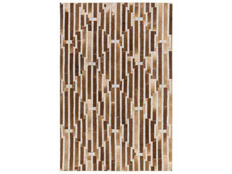 Surya Medora Rectangular Camel, Dark Brown & Light Gray Area Rug