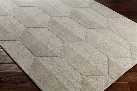 Surya Mountain Rectangular White, Medium Gray & Light Gray Area Rug
