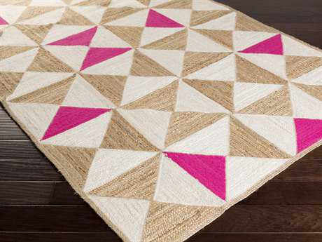 Surya Molino Rectangular Hot Pink Area Rug