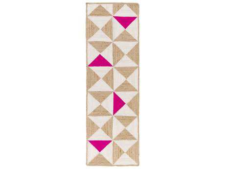 Surya Molino 2'6'' x 8' Rectangular Hot Pink Runner Rug