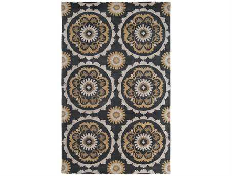 Surya Mosaic Rectangular Brown Area Rug