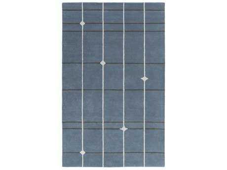 Surya MOD POP Rectangular Denim, Light Gray & Charcoal Area Rug