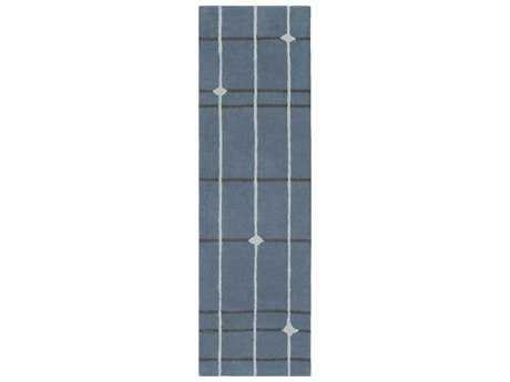 Surya MOD POP 2'6'' x 8' Rectangular Denim, Light Gray & Charcoal Runner Rug