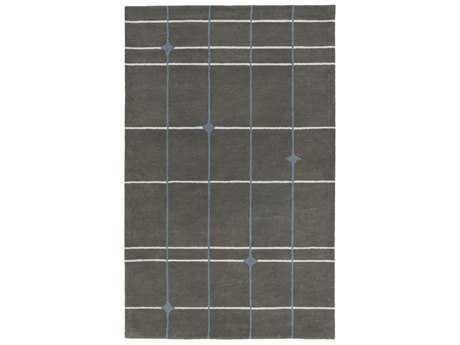 Surya MOD POP Rectangular Charcoal, Light Gray & Denim Area Rug