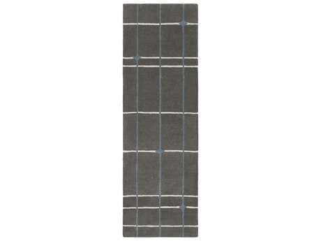 Surya MOD POP 2'6'' x 8' Rectangular Charcoal, Light Gray & Denim Runner Rug