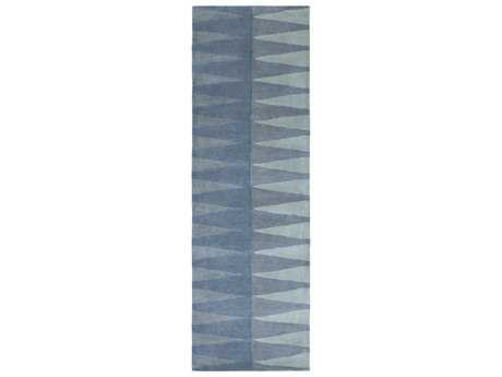 Surya MOD POP 2'6'' x 8' Rectangular Denim & Aqua Runner Rug