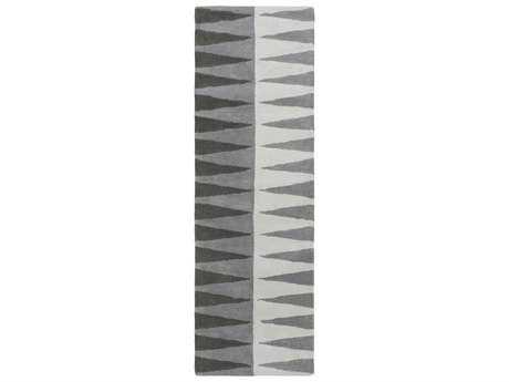 Surya MOD POP Rectangular Medium Gray, Light Gray & Charcoal Runner Rug