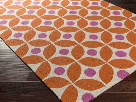 Surya Miranda Rectangular Burnt Orange Area Rug