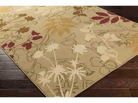 Surya Mountain Home Rectangular Dark Brown, Tan & Khaki Area Rug