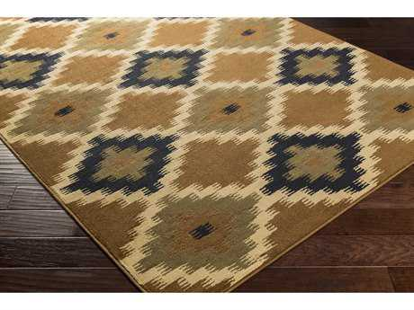 Surya Mountain Home Rectangular Tan, Dark Brown & Black Area Rug