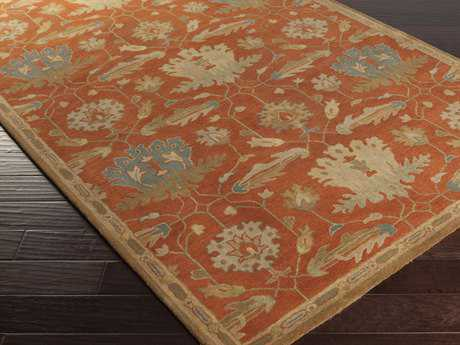 Surya Mentone Rectangular Rust Area Rug