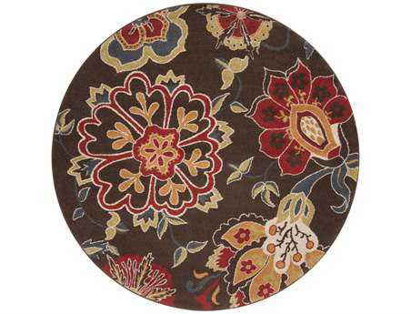 Surya Monterey 6'7'' Round Brown Area Rug