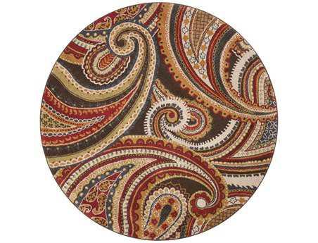 Surya Monterey 6'7'' Round Red Area Rug