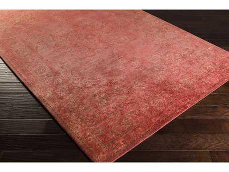 Surya Mykonos Rectangular Rose, Pale Pink & Garnet Area Rug