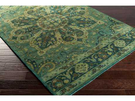 Surya Mykonos Rectangular Dark Green, Olive & Dark Brown Area Rug