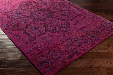 Surya Mykonos Rectangular Bright Pink, Dark Purple & Violet Area Rug