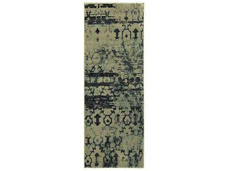 Surya Napa 2'7'' x 7'3'' Rectangular Olive Runner Rug