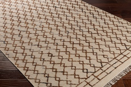 Surya Nettie Rectangular Khaki, Camel & Black Area Rug