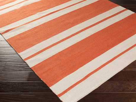 Surya Nantucket Rectangular Rust Area Rug