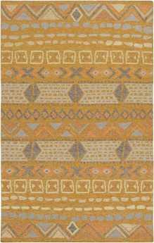 Surya Nomad Rectangular Orange Rug