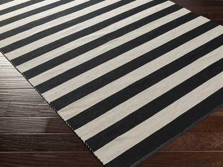 Surya Newport Rectangular Black Area Rug