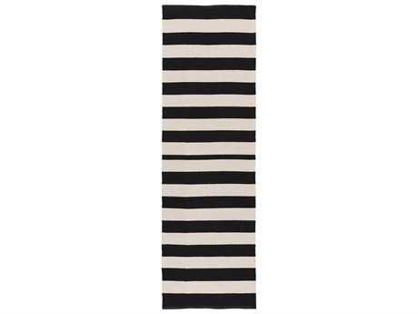 Surya Newport 2'6'' x 8' Rectangular Black Runner Rug