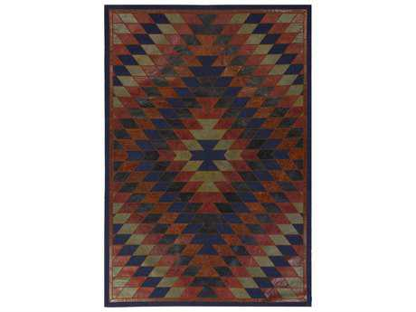 Surya Nirvana Rectangular Navy & Burgundy Area Rug
