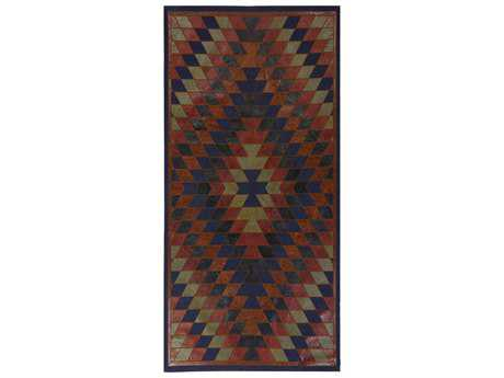 Surya Nirvana 2'6'' x 8' Rectangular Navy & Burgundy Runner Rug