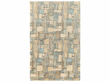 Surya Natural Affinity Rectangular Cream, Butter & Aqua Area Rug