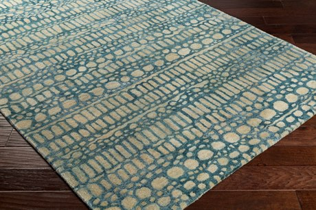 Surya Natural Affinity Rectangular Cream, Butter & Navy Area Rug