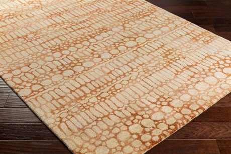Surya Natural Affinity Rectangular Cream, Butter & Burnt Orange Area Rug