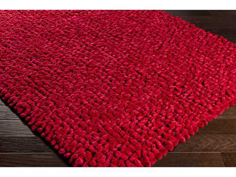 Surya Nestle Rectangular Bright Red Area Rug