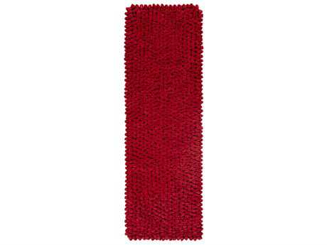 Surya Nestle 2'6'' x 8' Rectangular Bright Red Runner Rug