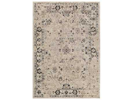 Surya Nova Rectangular Light Gray Area Rug