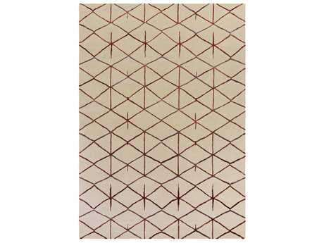 Surya Naya Rectangular Dark Red, Rose & Khaki Area Rug