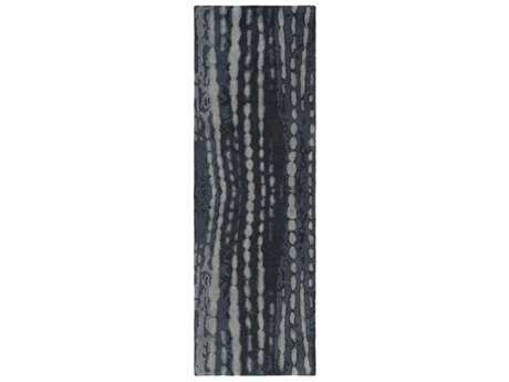 Surya Naya 2'6'' x 8' Rectangular Black, Navy & Medium Gray Runner Rug